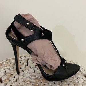 New Herve Leger Hera black sandals high heel